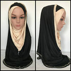 Al Amira Hijab PULL ON READY COTTON JERSEY One Piece Stretch Scarf USA Seller