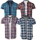 Mens Set T-Shirt & Shirt Threadbare Short Sleeved Check Cotton Casual Summer