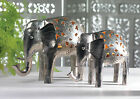 SILVER ELEPHANT TEA LIGHT CANDLE HOLDER / VOTIVE HOLDER (2 SIZES)