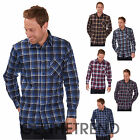 Mens Lumberjack Flannel Brushed Cotton Work Check Shirt Long Sleeve Shirt M-XXL