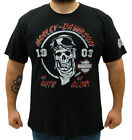 Harley-Davidson Mens Racing Skull Chalk Graphic Black Short Sleeve T-Shirt