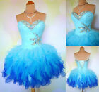 Stock Short Blue Prom Bridesmaid Dresses Cocktail Homecoming Dresses US Size2-16