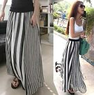 FD2108 Women lady Skirts Dress Irregular Stripes Full-length Maxi Lined Skirts