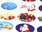 Christmas Oval Seal Labels, Stickers for Gift Wrap, Envelopes, Bags, Cards