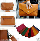 Women Handbags Shoulder Bags Purse Fashion Envelope Size Solid Clutch Leather
