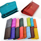Long Button EEL skin Leather WALLET Women Girl Lady Purse Clutch with Coin Slot