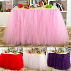 Tulle Table Skirt Princess Part Ballerina Party Baby Shower Wedding Table Tutu