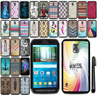 For Samsung Galaxy S5 Active G870A SLIM FIT PATTERN HARD Case Back Cover + Pen