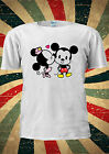 Disney Minnie And Mickey Mouse Cute Kiss T-Shirt Vest Top Men Women Unisex 2045