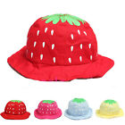 Brand New Kid Baby Girl Strawberry Sweet Candy Dot Bucket Hat Sun Cap
