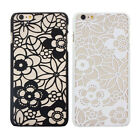 New Carved Damask Vintage Matte Flower Hard Case Cover For iPhone 5 5S 6 6Plus