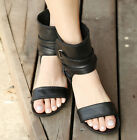 Girls Hollow Out Peep Toe Casual Low Heels Summer Sandals Shoes Ankle Boots NEW