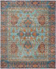 Blue / Gold Safavieh Power Loomed Valencia Area Rugs - VAL102A