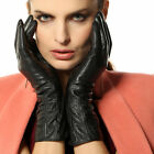 Women's genuine LAMBSKIN leather gloves w/elastic cuff L106NC