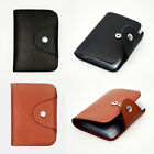 New Mens Luxury Soft Real Leather Credit Card Holder Wallet Purse Oyster ID 26