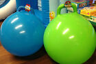 "16"" JUMP N BOUNCE SPACE HOPPER RETRO BALL KIDS OUTDOOR , green or blue"