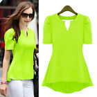 Top Sell Lady Peplum Tops Frill Puff Sleeve Fitted Shirt Clubwear Blouse Fashion