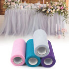 "Multi Color 6""x25yd Glitter Tulle Roll Tutu Wedding Party Fabric Bow Carft Spool"