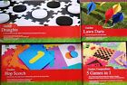 Outdoor Garden Games Lawn Darts Hopscotch Draughts 5in1 Compendium Tenax NEW