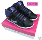 Girls Pineapple High Top Boot/High Tops Trainers Black/Purple UK1-UK5 Euro 33-38