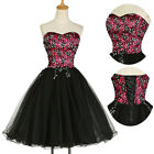 Vintage Style 50s Formal Evening Ball Gowns Party Bridesmaids Short PROM Dresses