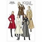 Vogue 8346 Double Breasted Flared Coat Long Short Sewing Pattern V8346 5 in 1