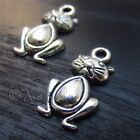 Kitty Cat Wholesale Silver Plated Charm Pendants C0629 - 5PCs, 10PCs Or 20PCs