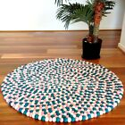 Emerald Genuine Mimosa Design 100% Wool Felt Ball Rugs Kids Nursery Bright Mat