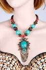 New Tribal Belly Dance Costume Accessory Necklace Jewelry Turquoise 3 Colors
