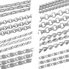 8SJ 2M Stainless Steel Chains Silver Tone For Jewelry Necklace Bracelet DIY