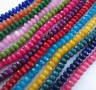 "Jade faceted abacus / rondelle 8x5mm dyed beads.15"" strand (~75 beads) SP104"