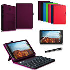 Bluetooth Keyboard Stand Cover Case Bundle For Verizon Ellipsis 8 4G LTE Tablet