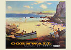 Cornwall, Travel by Train - repro vintage railway travel poster in 4 sizes