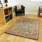 New Blue Traditional Style Rug Easy Clean Oriental Style Living Room Mats Online