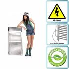 500 x 1000 Prefilled Electric Only Heated Chrome Towel Rail with Heating Element
