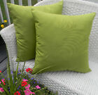 "Set of 2 ~ 20"" Decorative Throw Pillows, Indoor Outdoor, Select Solid Colors"