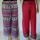 100% Cotton Pants NEW Summer BOHO Print Ladies Size S M L Beach Resort Wear