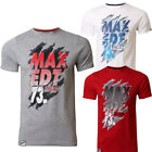 Mens Max Edition Graphic Flame Print Short Sleeve Crew Neck Cotton T-Shirt