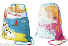 Official Disney Frozen Elsa Anna / Olaf Swimming Bag Drawstring Gym Tote Bags