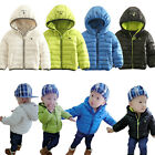 Baby Boy Girl Hoods Jacket, Padded Cotton Winter Outerwear 6M 12M 18M 24M 2Y 3Y
