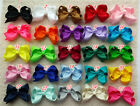 "4"" Baby Girl Toddlers Boutique Hair Bows Clips Grosgrain Ribbon U pick colors O"