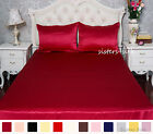 19 Momme Seamless 100% Pure Silk Fitted Sheet Silk Flat Sheet Set Queen