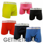 Mens Plain Coloured Cotton Boxers Shorts Mens Black Blue Red Stretch Fit Boxer