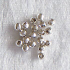 4mm Sterling Silver Round Faceted Mirror Ball Spacer Beads