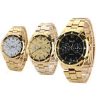 Newest Mens Gold Luxury Watch Classic Quartz Stainless Steel Wrist Watch On Sale