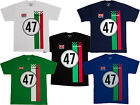 Lambretta Men's Summer Racing Team T-Shirts Tee 100% Cotton New and Sealed