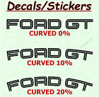 8 X Ford GT Decals Stickers Curved Arched Straight  Graphics Emblem Logo B A