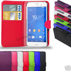 SONY XPERIA Z3 - LEATHER WALLET CASE & SCREEN PROTECTOR