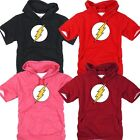 Superhero Film The Flash DC Light Cotton Hooded tshirt Hoodie Hoody Top Tee AA