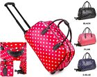 Ladies Polka Dot Print Holdall Trolley Weekend Bag Hand Luggage Travel Bag M912